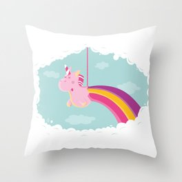 Licorne Piñata Throw Pillow