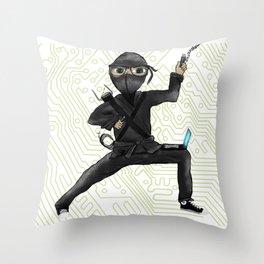 Cyber Ninja Throw Pillow
