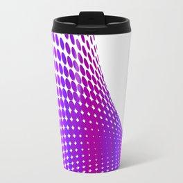 Glitch in the Dot Matrix (Purple) Travel Mug
