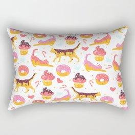 cat donut Rectangular Pillow
