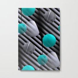 3D - abstraction -91- Metal Print