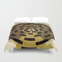 record Duvet Covers featuring Record by Tammy Kushnir