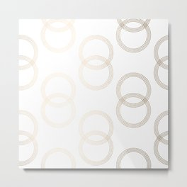Simply Infinity Link in White Gold Sands on White Metal Print