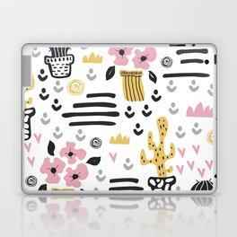 Cute flowers and cactus Laptop & iPad Skin