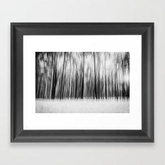 Trees | Black and White Framed Art Print