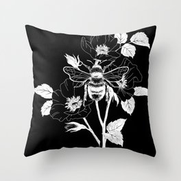 Save the bees black Throw Pillow