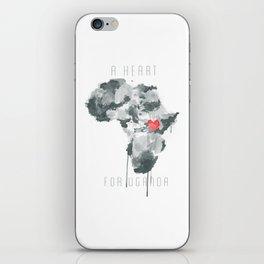 A Heart For Uganda iPhone Skin