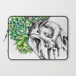 Rock Rose Cat Skull Laptop Sleeve