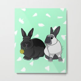 Elly and Bobby Metal Print
