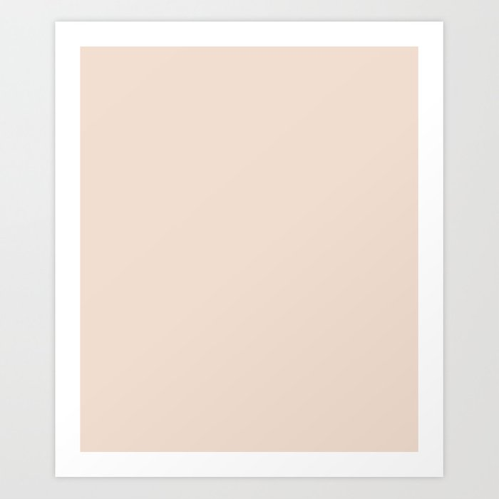 Champagne Pink Solid Color Art Print