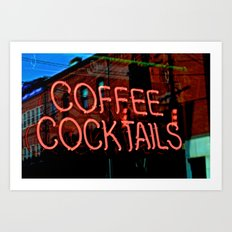 Coffee Cocktails Art Print