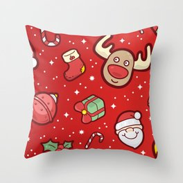 Christmas Icons Pattern / Part One Throw Pillow