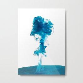 Blue Dye Metal Print
