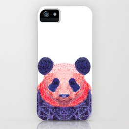 Don't Be Scared To Be Different If You're Already Rare (Panda Animal Painting Stippled Pop Art) iPhone Case
