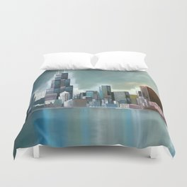Chicago At Noon Duvet Cover