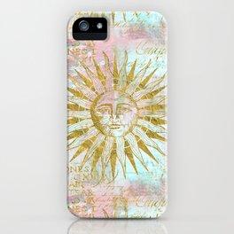 Golden Sun elegant vintage pattern iPhone Case