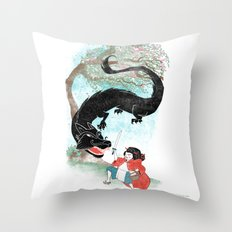 Little Red-San Throw Pillow