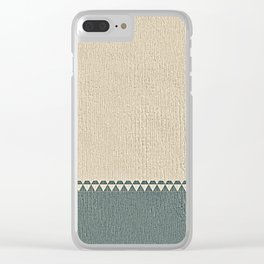 Texture Taupe and Grey Green Pattern Clear iPhone Case
