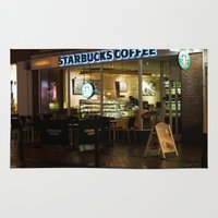 starbucks Area & Throw Rugs featuring Starbucks by Vanessa Antonina