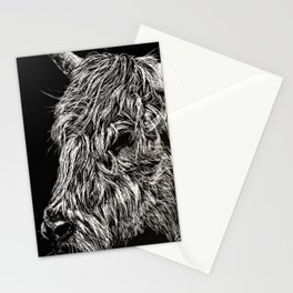 West Highland Cattle Scratch Art, High Park Zoo Stationery Cards