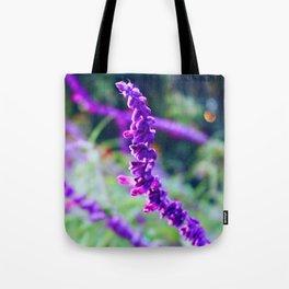 Purple Velvet Lavender Tote Bag