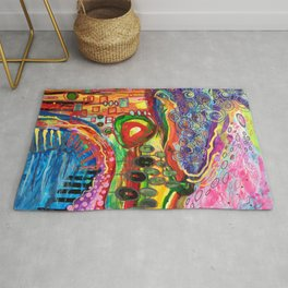 """'If I Was To Paint A Cityscape"""" Rug"""
