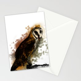 the owl looked up to the stars above Stationery Cards