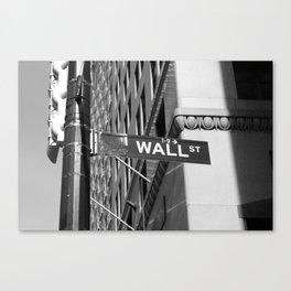 Wall St. - B&W Canvas Print