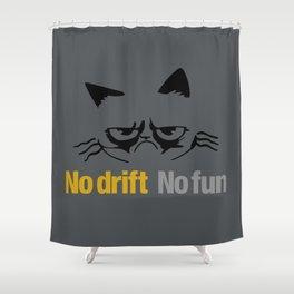 No drift No fun v1 HQvector Shower Curtain