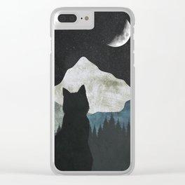 Black Cat 2 Clear iPhone Case