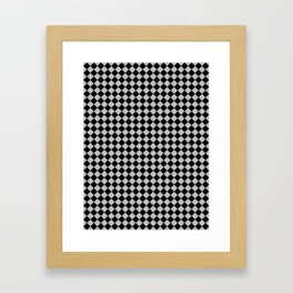Black and Gray Diamonds Framed Art Print