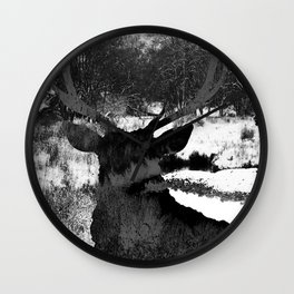 Stag in the Shadows Wall Clock