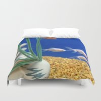 swimming Duvet Covers featuring Swimming by Jenna Allensworth