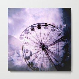 Double Ferris Wheel Metal Print