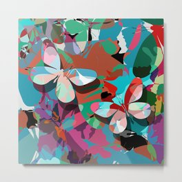 Butterfly abstract design Metal Print