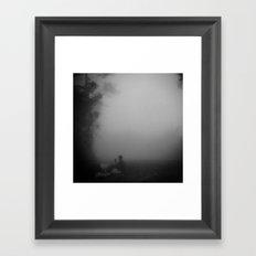 Sitting in the Mist Framed Art Print