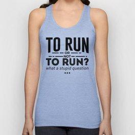 Runners Run Running Is Life Design Unisex Tank Top
