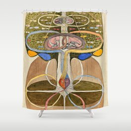 "Hilma af Klint ""Tree of Knowledge No. 1"" Shower Curtain"