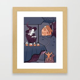 Funny witch Framed Art Print