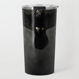 Black raven, crow flight Travel Mug