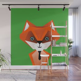 Clever Fox – Childrens Room Illustration for Boys and Girls Wall Mural