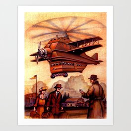 Heliplane Art Print