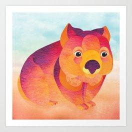 Shanti Sparrow: Jessie the Wombat Art Print