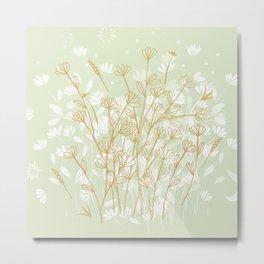 Coockie brown clover on green  Metal Print