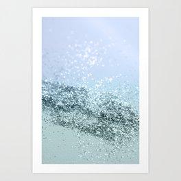 Light Seafoam Light Blue Glitter #1 #shiny #decor #art #society6 Art Print