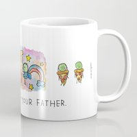 how i met your mother Mugs featuring How I Met Your Father by mariorigami