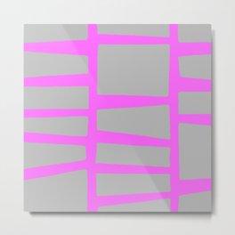 geometric neon Metal Print