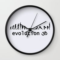 evolution Wall Clocks featuring evolution by Maria Durgarian