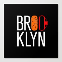 brooklyn Canvas Prints featuring Brooklyn by David Bastidas