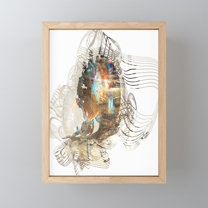 Dakini Wisdom Goddess #3 Golden Framed Mini Art Print